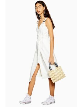 Buckle Wrap Midi Dress by Topshop
