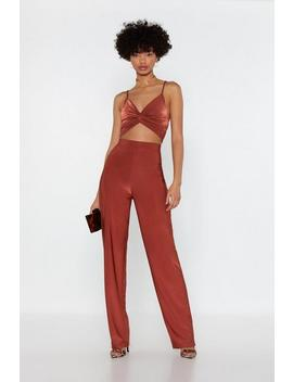 It's Knot So Bad Crop Top And Pants Set by Nasty Gal