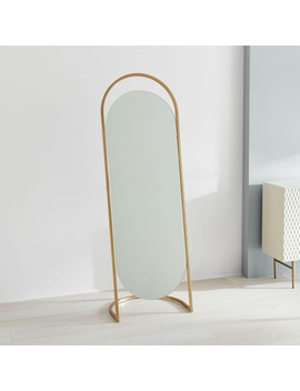 Folded Ellipse Standing Mirror by West Elm