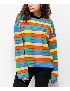 Ragged Jeans Rainbow Striped Long Sleeve T Shirt by The Ragged Priest