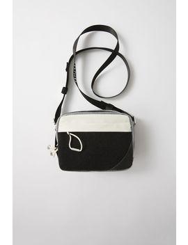 Tricoloured Purse Black/White by Acne Studios