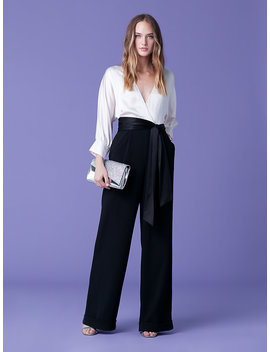 Marle Draped Jumpsuit by Dvf