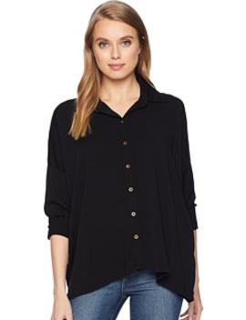 Rylie Rayon Boxy Button Up Shirt by Michael Stars