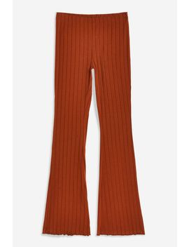 Wide Rib Flare Trousers by Topshop