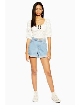 Roll Mom Denim Shorts by Topshop