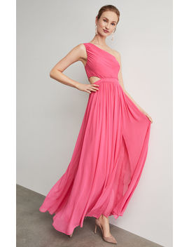 One Shoulder Cutout Gown by Bcbgmaxazria
