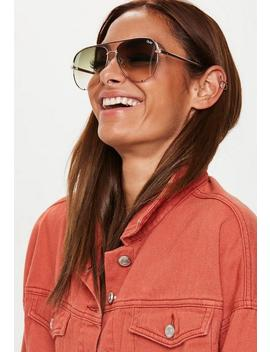 Quay Australia High Key Rose Gold Sunglasses by Missguided
