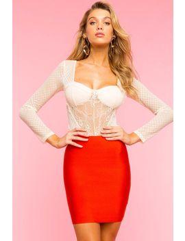 Budoir Lace Long Sleeve Bodysuit by A'gaci