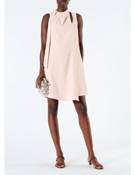 Chalky Drape Pleat Neck Shift Dress by Tibi