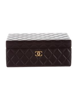 Lambskin Quilted Jewelry Box by Chanel