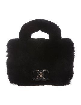 2017 Small Fur Flap Bag by Chanel