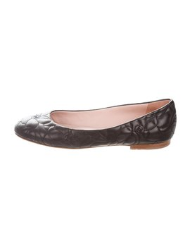 Quilted Camellia Flats by Chanel