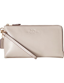 Pebbled Leather Double Zip Wallet by Coach