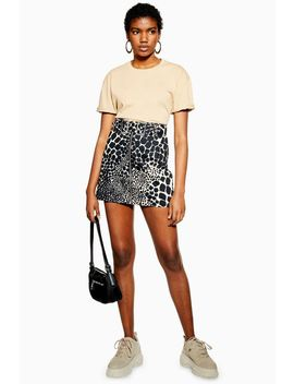 Giraffe Denim Mini Skirt by Topshop