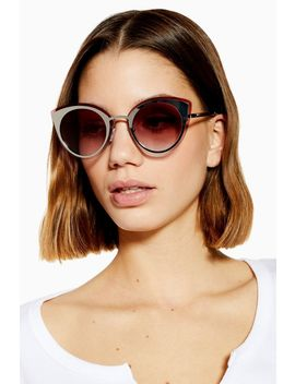 Poppy Laid On Metal Sunglasses by Topshop