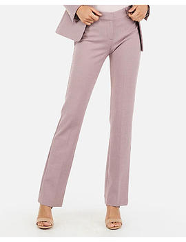 Petite Mid Rise Tweed Barely Boot Columnist Pant by Express