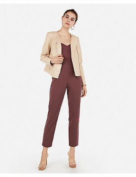 (Minus The) Leather Collarless Zip Moto Jacket by Express