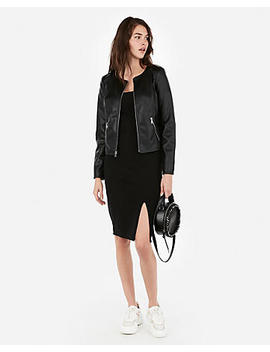 (Minus The) Leather Zip Jacket by Express