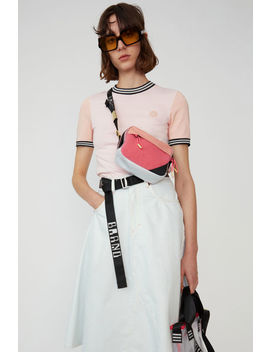 Two Tone T Shirt Blossom Pink by Acne Studios