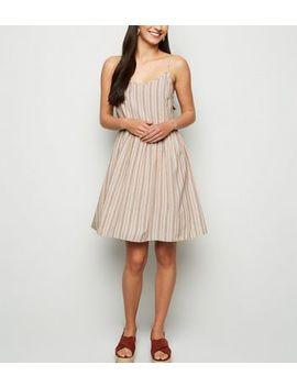 White Stripe Linen Look Smock Sundress by New Look