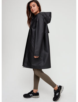 Billie Rain Jacket   Long, Hooded Raincoat by The Group By Babaton