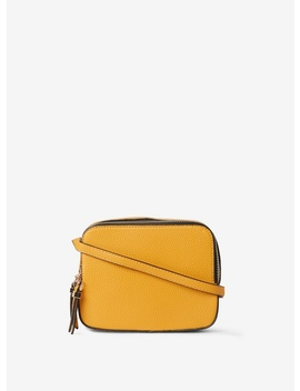 Mustard Double Zip Cross Body Bag by Dorothy Perkins