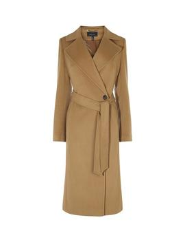 Camel Italian Wool Mix Coat by Karen Millen