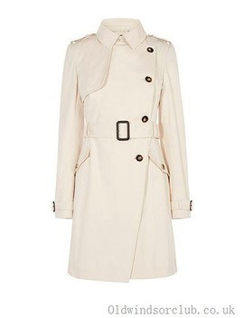 Women's Button Jackets Neutral Us Coat by Karen Millen