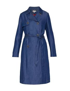 Mid Wash Bowee Cbn Tencel Mac Coat by Ted Baker