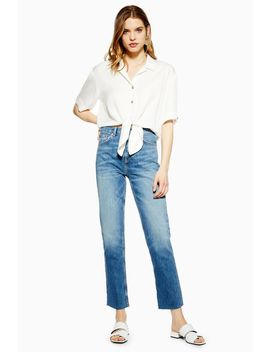 Short Sleeve Knot Front Shirt by Topshop