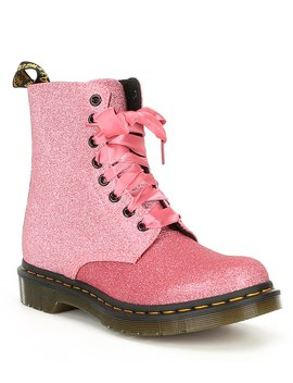 Women's 1460 Pascal Glitter Combat Boots by Dr. Martens