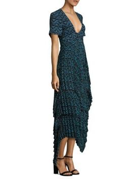Kylia Plissé Silk Dress by A.L.C.
