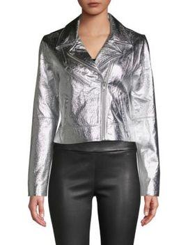 Metallic Leather Jacket by Wythe Ny