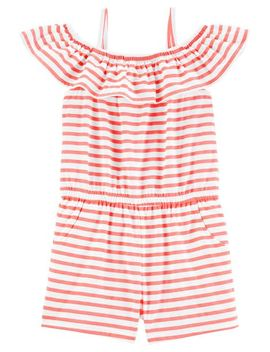 Cold Shoulder Striped Romper by Oshkosh