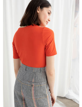 Stretch Cotton Tee by & Other Stories