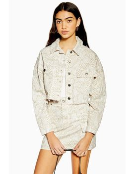 Snake Hacked Off Denim Jacket by Topshop