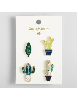 Plant Lady Cactus Enamel Pins Set Of 4 by World Market