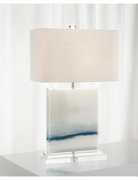 John Richard Collection Enigma Printed Canvas Table Lamp by John Richard Collection
