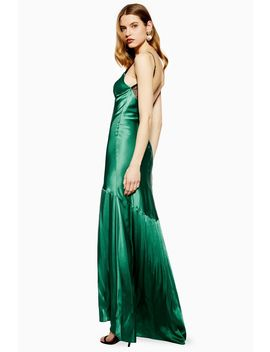 Lace Insert Satin Slip Maxi Dress by Topshop