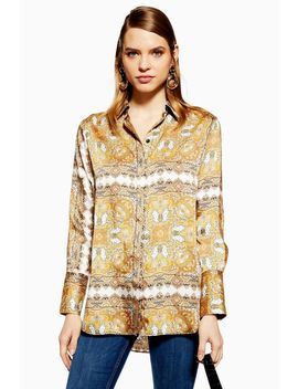 Petite Paisley Square Shirt by Topshop