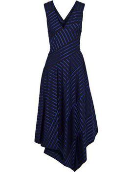 Asymmetric Striped Cotton Midi Dress by Derek Lam