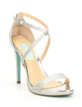 Blue By Betsey Johnson Andi Strappy Glitter Dress Sandals by Betsey Johnson