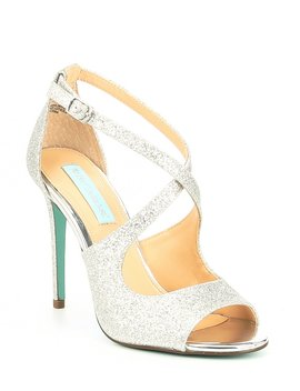 Blue By Betsey Johnson Tacie Glitter Dress Sandals by Betsey Johnson