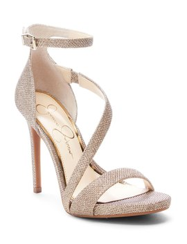 Rayli Sparkle Fabric Strappy Dress Sandals by Jessica Simpson
