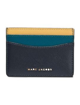 Color Block Leather Cardholder by Marc Jacobs