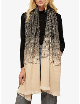 Phase Eight Aletta Ombre Scarf, Black/Camel by Phase Eight