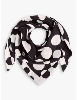 Hobbs Madeline Spot Print Silk Scarf, Ivory/Black by Hobbs
