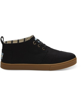 Black Heritage Canvas Women's Cupsole Botas Boots Venice Collection by Toms