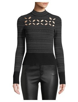 Slalom Cutout Turtleneck Sweater by Bailey 44