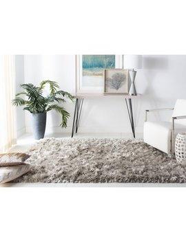 Safavieh Handmade Ocean Shag Light Grey Polyester Rug by Safavieh